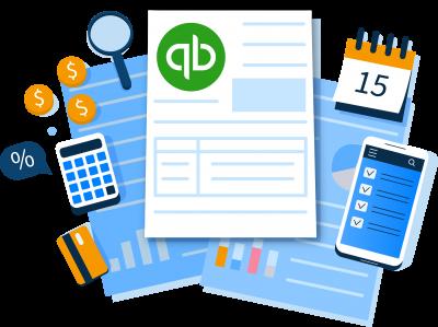 quickbooks concept illustration